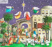 Ingrid, HOLY FAMILIES, HEILIGE FAMILIE, SAGRADA FAMÍLIA, paintings+++++,USISMC03S,#XR# angels ,vintage