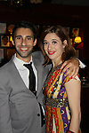 Opening Night of Manipulation and after party at Sardis - Ravi Silver & Marina Squerciati (was on Guiding Light) pose togther as both of them are in Victoria E. Calderon's play Manipulation on June 28, 2011 at the Cherry Lane Theatre, New York City, New York. (Photo by Sue Coflin/Max Photos)