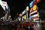 Sapporo &egrave; la citt&agrave; pi&ugrave; importante dell'isola di Hokkaido. E' una tipica citt&agrave; giapponese moderna. Nella foto una veduta notturna del quartiere di Odori<br /> &copy; Paolo della Corte