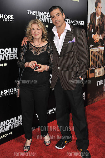 "Eric Etebari & mother Jean Ferro at the Los Angeles premiere of his new movie ""The Lincoln Lawyer"" at the Cinerama Dome, Hollywood..March 10, 2011  Los Angeles, CA.Picture: Paul Smith / Featureflash"