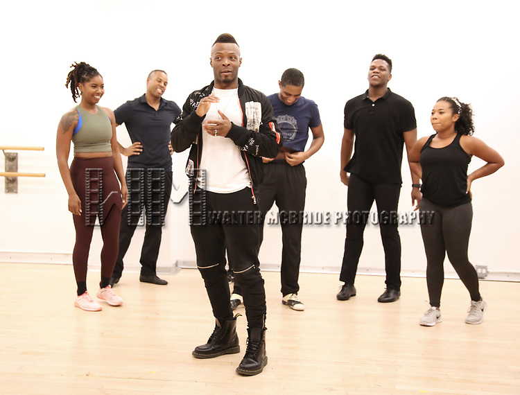 """Choreographer Ricky Tripp and dancers During the Open Rehearsal for the Miami New Drama's World Premiere Musical  """"A Wonderful World"""" at the Ripley-Grier Studios on January 26, 2020 in New York City."""