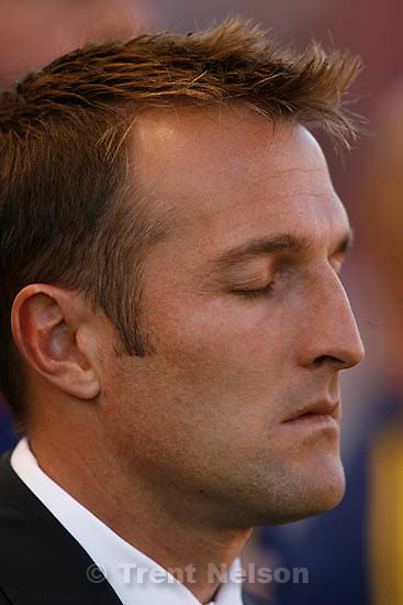 Real Salt Lake vs. Columbus Crew, MLS Soccer playoffs Saturday, October 31 2009 at Rio Tinto Stadium in Sandy. coach jason kreis