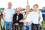 John O'Shea, Paul Clifford, Eileen and Tara O'Shea Beaufort at the Treshing for Cancer in Beaufort on Sunday