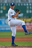 Pitcher Austin Kirk #18 of the Daytona Cubs during the game against the Clearwater Threshers at Jackie Robinson Ballpark on May 1, 2012 in Daytona Beach, Florida. (Scott Jontes/Four Seam Images)