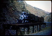 D&amp;RGW #278 with display train at Cimarron Bridge.<br /> D&amp;RGW  Cimarron, CO