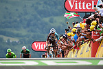 Romain Bardet (FRA) AG2R La Mondiale races for the finish line at Peyragudes during Stage 12 of the 104th edition of the Tour de France 2017, running 214.5km from Pau to Peyragudes, France. 13th July 2017.<br /> Picture: ASO/Pauline Ballet | Cyclefile<br /> <br /> <br /> All photos usage must carry mandatory copyright credit (&copy; Cyclefile | ASO/Pauline Ballet)