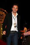 The Grand Final Breakfast, Melbourne Exhibition Centre 29-9-07, The VIP Guests arrive down the red carpet, Singer Damien Leith..