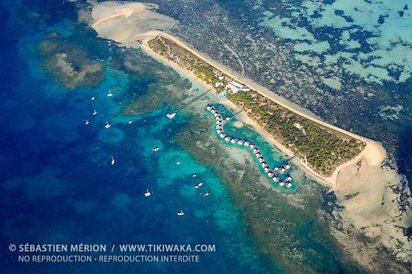 L'Ilot Maître et son hôtel L'Escapade, face à Nouméa, Nouvelle-Calédonie