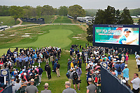 Brooks Koepka (USA) is swarmed by the media after winning the 2019 PGA Championship, Bethpage Black Golf Course, New York, New York,  USA. 5/19/2019.<br /> Picture: Golffile | Ken Murray<br /> <br /> <br /> All photo usage must carry mandatory copyright credit (© Golffile | Ken Murray)