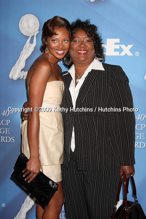 Eva Marcille & her mother  arriving at the NAACP Luncheon  at the Beverly Hills Hotel in Beverly Hills, CA on .February 7, 2009.©2009 Kathy Hutchins / Hutchins Photo..