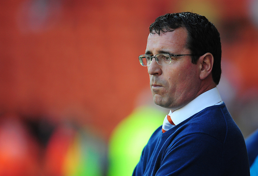Blackpool manager Gary Bowyer <br /> <br /> Photographer Kevin Barnes/CameraSport<br /> <br /> Football - The EFL Sky Bet League Two - Blackpool v Exeter City - Saturday 6th August 2016 - Bloomfield Road - Blackpool<br /> <br /> World Copyright © 2016 CameraSport. All rights reserved. 43 Linden Ave. Countesthorpe. Leicester. England. LE8 5PG - Tel: +44 (0) 116 277 4147 - admin@camerasport.com - www.camerasport.com
