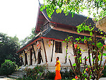 Monk and Wat, Luang Prabang, Laos