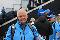 Trevor Lewers (GUI) marshalling on the 12th during the preview of the the 148th Open Championship, Portrush golf club, Portrush, Antrim, Northern Ireland. 17/07/2019.<br /> Picture Thos Caffrey / Golffile.ie<br /> <br /> All photo usage must carry mandatory copyright credit (© Golffile | Thos Caffrey)