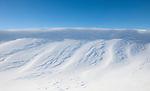 Winter landscape Riding Mountain Manitoba.