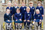 Children attending their first day at school at Templeglantine N.S.<br /> Front :Melanie Sheehan, Ruth Dalton, Shay McCarthy, Katie Sexton. <br /> Back: Kayla McNamara, Ava Relihan, Cian Brosnan, Amelia Galvin, Aoibhinn McAuliffe.