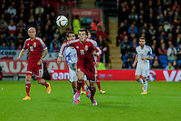 Wednesday 4th  December 2013 Pictured: Gareth Bale of Wales chases the ball <br /> Re: UEFA European Championship Wales v Cyprus at the Cardiff City Stadium, Cardiff, Wales, UK