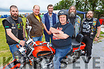 Willie Kelly (on the bike), with Paul O'Sullivan, Jerry Moloney, Tom Slattery, Kes Knightley and David Foley at the South West MCC 27th Missing Link Rally and BBQ in the Tankard Bar on Friday night.
