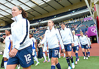 July 25, 2012..USA vs France Football match during 2012 Olympic Games at Hampden Park in Glasgow, England. USA defeat France 4-2 after conceding two goals in the first half of the match...(Credit Image: © Mo Khursheed/TFV Media)