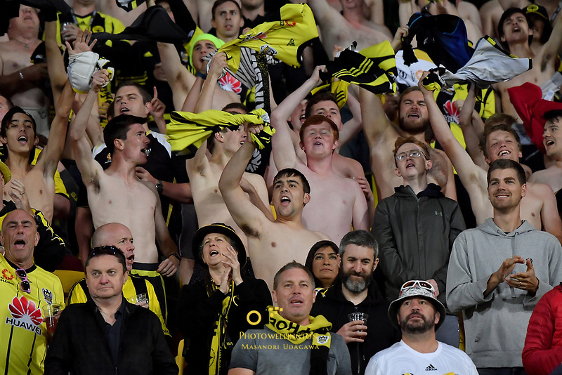 Fans during the A League - Wellington Phoenix v Melbourne City FC at Westpac Stadium, Wellington, New Zealand on Saturday 26 January 2019. <br /> Photo by Masanori Udagawa. <br /> www.photowellington.photoshelter.com