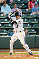 Michael Blanke #32 of the Winston-Salem Dash at bat against the Wilmington Blue Rocks at BB&T Ballpark on August 3, 2011 in Winston-Salem, North Carolina.  The Blue Rocks defeated the Dash 6-2.   Brian Westerholt / Four Seam Images