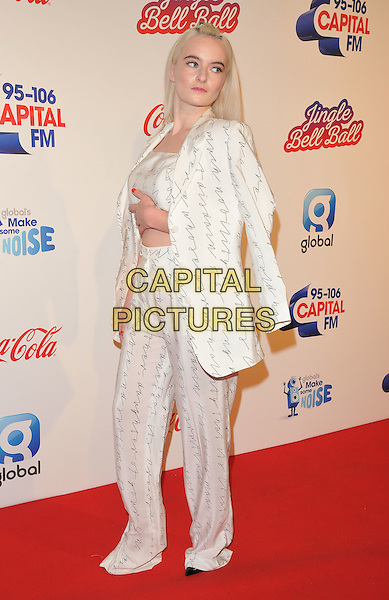 Grace Chatto of Clean Bandit at the Capital FM Jingle Bell Ball, The London O2 Arena, Peninsula Square, London, England, UK, on Saturday 03 December 2016. <br /> CAP/CAN<br /> &copy;CAN/Capital Pictures