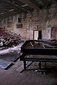 A music hall in Pripyat, a ghost town left deserted by the nuclear disaster in the Chernobyl power station nearby. 30 years on, the city is still heavily contaminated, unfit for human life. <br /> <br /> The Chernobyl nuclear disaster happened on 26 April 1986.
