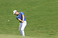 David Lingmerth (SWE) chips onto the 18th green during Saturday's Round 3 of the 2017 PGA Championship held at Quail Hollow Golf Club, Charlotte, North Carolina, USA. 12th August 2017.<br /> Picture: Eoin Clarke | Golffile<br /> <br /> <br /> All photos usage must carry mandatory copyright credit (&copy; Golffile | Eoin Clarke)