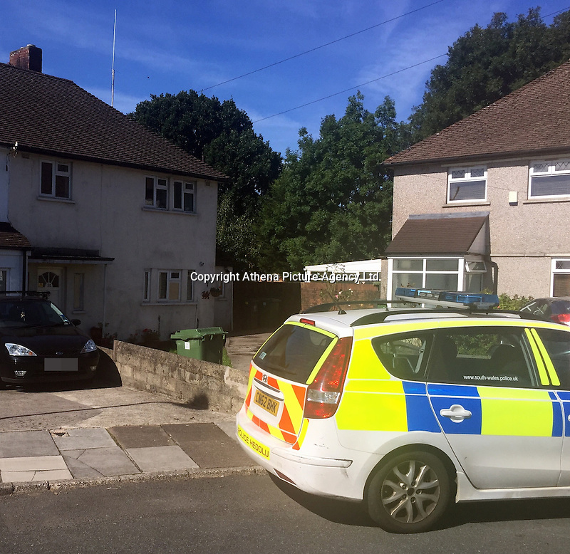 Pictured: The house (the one with the bins outside) where John and Eva McMurray, the grandparents of footballer Gareth Bale live in Cardiff, Wales, UK<br />