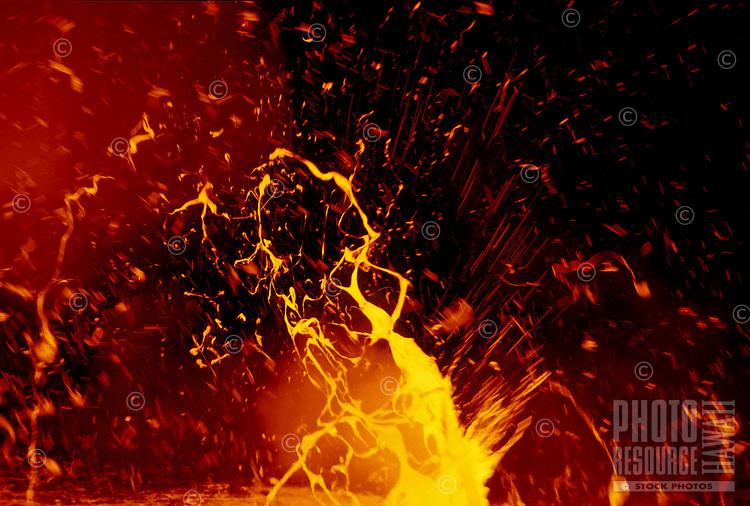Exploding lava, Kilauea Volcano, Big Island, Hawaii