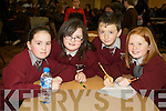 Pictured at the Tralee Credit Union Schools Quiz Brandon hotel on Sunday were Knockaclaraig Laura Murphy, Katlyn Broderick, Conor Daly and Patricia Murphy.