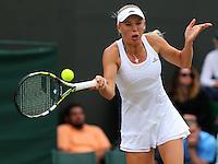 The Championships Wimbledon 2014 - The All England Lawn Tennis Club -  London - UK -  ATP - ITF - WTA-2014  - Grand Slam - Great Britain -  27th.June 2014. <br /> CAROLINE WOZNIACKI (DEN)<br /> <br /> © J.Hasenkopf / Tennis Photo Network