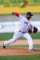 Pitcher Jason Rice #45 of the Pawtucket Red Sox during a game versus the Buffalo Bisons on 4-17-11 at McCoy Stadium in Pawtucket, Rhode Island. Photo by Ken Babbitt /Four Seam Images