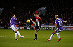 \su7 intercepts during the Championship match at Bramall Lane Stadium, Sheffield. Picture date 30th December 2017. Picture credit should read: Simon Bellis/Sportimage