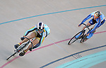 September 17, 2015 - Colorado Springs, Colorado, U.S. - UC-San Diego's, Eric Geier, is off the front in a points race qualifier during the USA Cycling Collegiate Track National Championships, United States Olympic Training Center Velodrome, Colorado Springs, Colorado.