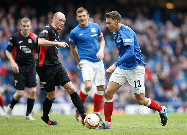 Kal Naismith running at the Clyde defence