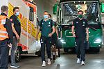 Ludwig Augustinsson (Werder Bremen #05), Ankunft am Stadion, Florian Kohfeldt (Trainer SV Werder Bremen), Luca Plogmann (Werder Bremen #40)<br /> <br /> <br /> Sport: nphgm001: Fussball: 1. Bundesliga: Saison 19/20: 33. Spieltag: 1. FSV Mainz 05 vs SV Werder Bremen 20.06.2020<br /> <br /> Foto: gumzmedia/nordphoto/POOL <br /> <br /> DFL regulations prohibit any use of photographs as image sequences and/or quasi-video.<br /> EDITORIAL USE ONLY<br /> National and international News-Agencies OUT.