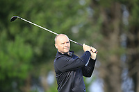 Graeme Arthur (Carrickfergus)  during the final of the Irish Mid-Amateur Open Championship, Royal Belfast Golf CLub, Hollywood, Down, Ireland. 29/09/2019.<br /> Picture Fran Caffrey / Golffile.ie<br /> <br /> All photo usage must carry mandatory copyright credit (© Golffile   Fran Caffrey)
