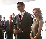 Spanish Royals King Felipe VI and Queen Letizia during the delivery of grants La Caixa at Caixa Forum Madrid. Jun 10,2016. (ALTERPHOTOS/Rodrigo Jimenez)