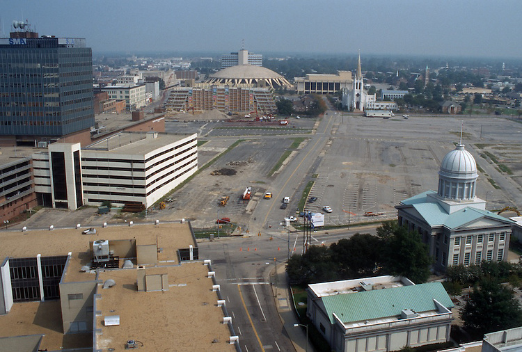 1996 September 10..Redevelopment..Macarthur Center.Downtown North (R-8)..PROGRESS.LOOKING NORTH.FROM MAIN STREET TOWER...NEG#.NRHA#..