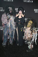BUENA PARK, CA - SEPTEMBER 29:  Elvira at Knott's Scary Farm & Instagram's Celebrity Night at Knott's Berry Farm in Buena Park, California on September 29, 2017. Credit: Faye Sadou/MediaPunch