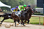 HOT SPRINGS, AR - APRIL 13:  Fantasy Stakes at Oaklawn Park on April 13, 2018 in Hot Springs, Arkansas. #6 Amy?s Challenge with jockey Mike E. Smith (Photo by Ted McClenning/Eclipse Sportswire/Getty Images)