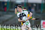 Chris Farley  South Kerry in action against Shaun Keane Legion at the Kerry County Senior Football Final at Fitzgerald Stadium on Sunday.