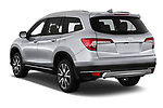 Car pictures of rear three quarter view of a 2020 Honda Pilot Touring 5 Door SUV angular rear
