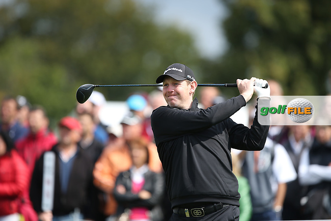 Stephen Gallacher (SCO) starts the Final Round of the D&D Real Czech Masters 2014 from the Albatross Golf Resort, Vysoky Ujezd, Prague. Picture:  David Lloyd / www.golffile.ie