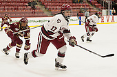 Kenzie Kent (BC - 12), Briana Mastel (Harvard - 17) - The visiting Boston College Eagles defeated the Harvard University Crimson 2-0 on Tuesday, January 19, 2016, at Bright-Landry Hockey Center in Boston, Massachusetts.