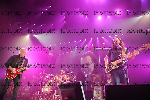Rush - Alex Lifeson and Geddy Lee - performing live on the Time Machine Tour at Festhalle in Frankfurt Germany - 29 May 2011.  Photo credit: Hans-Martin Issler/IconicPix
