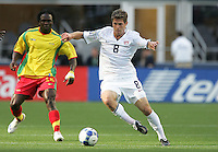 Logan Pause controls the ball. USA defeated Grenada 4-0 during the First Round of the 2009 CONCACAF Gold Cup at Qwest Field in Seattle, Washington on July 4, 2009.
