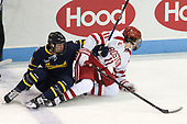 Ryan Cook (Merrimack - 2), Patrick Curry (BU - 11) - The visiting Merrimack College Warriors defeated the Boston University Terriers 4-1 to complete a regular season sweep on Friday, January 27, 2017, at Agganis Arena in Boston, Massachusetts.The visiting Merrimack College Warriors defeated the Boston University Terriers 4-1 to complete a regular season sweep on Friday, January 27, 2017, at Agganis Arena in Boston, Massachusetts.