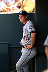 26 August 2007:  Washington Nationals pitching coach Randy St. Claire awaits the start of play against the Colorado Rockies at Coors Field in Denver, Colorado. The Rockies defeated the Nationals 10-5 to sweep the 3-game series...Mandatory Photo Credit: Ed Wolfstein Photo