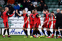 Wes Thomas of Grimsby Town centre (39) celebrates scoring the second goal  during Yeovil Town vs Grimsby Town, Sky Bet EFL League 2 Football at Huish Park on 9th February 2019